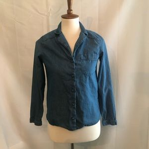 Zara denim button front shirt